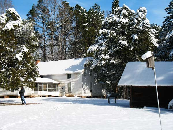 Rockcliff Farm in winter.